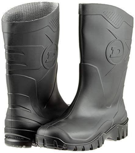 cheap for discount f7416 43336 Dunlop Dee Calf schwarz PVC Unisex-Erwachsene Halbschaft Gummistiefel -  K500011