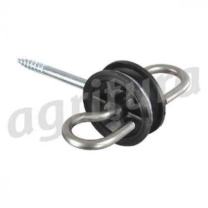 Porta Maniglia Isolante, 2 steeleyelets inossidabile, filo di legno (qty 4) - A29901