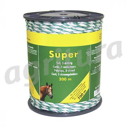 Super Polyrope, 3 fili, 0,30 millimetri, bianco-verde, 200 m spool - A33219