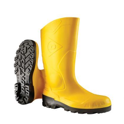 Stivali Dunlop Devon full safety giallo, con protezione in metallo, S5 - H142211