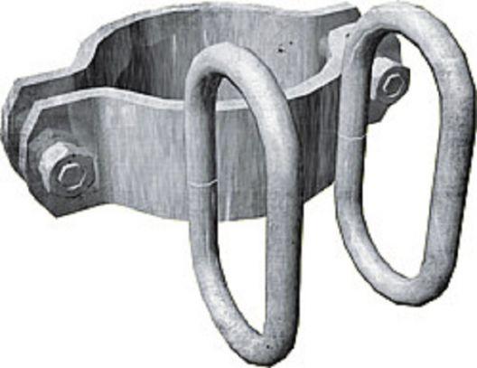 Schelle d=102 mm, 2 Riegelhalter, vz - 303486
