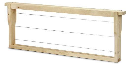 EWG Rähmchen gedrahtet Dadant Blatt 159 mm, Hoffmann-Seiten