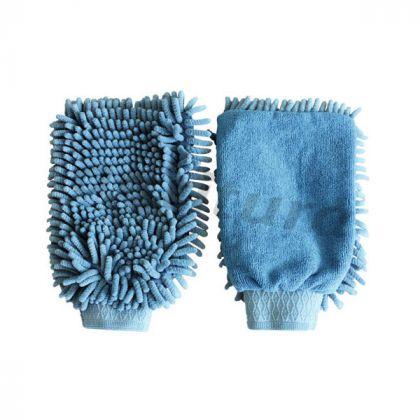 cura del pelo  microfibra grooming guanto,blu