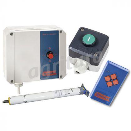 Azionamento elettrico con scatola di controllo, 2. Interruttore e telecomando per Agridoor