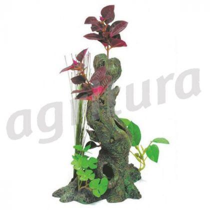 Radici decorative con piante di seta