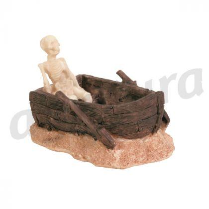 scheletro in una barca