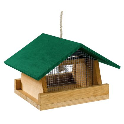 mangiatoia per uccelli in legno 1