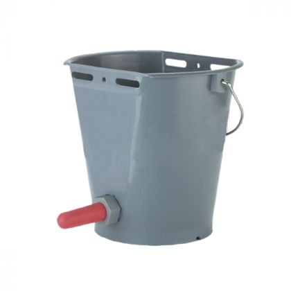 grey calf feeding bucket