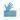 Guanto nitrile blu
