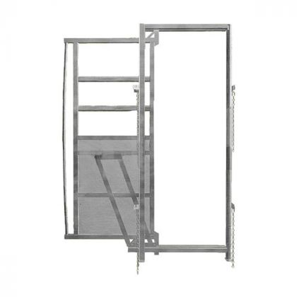 Telaio con scorrevole Porta, larghezza 0.90 m, altezza 1,95 m, zincato