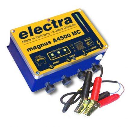 Elettrificatore magnus- A4500 MC 12V per lunghi recinti e dissuatore per cervi.