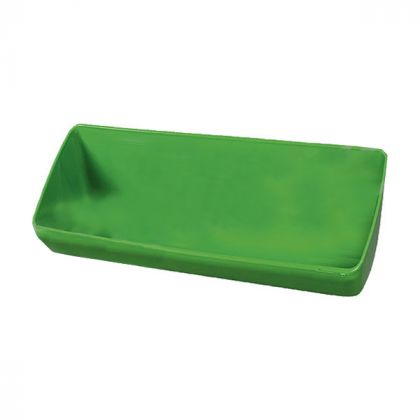 Recipiente di plastica lungo, 13 l, verde, per fissaggio a vite