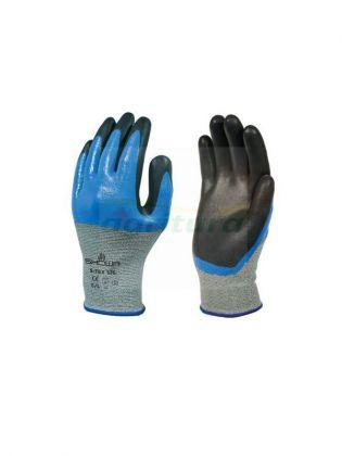 SHOWA S-TEX 376 Attrezzature per sicurezza Guanti Blu su nero - singolo