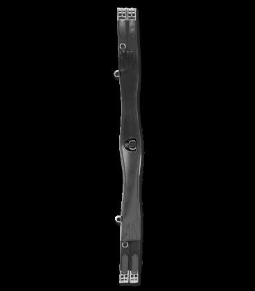 Cintura in pelle + anello nero 120 cm