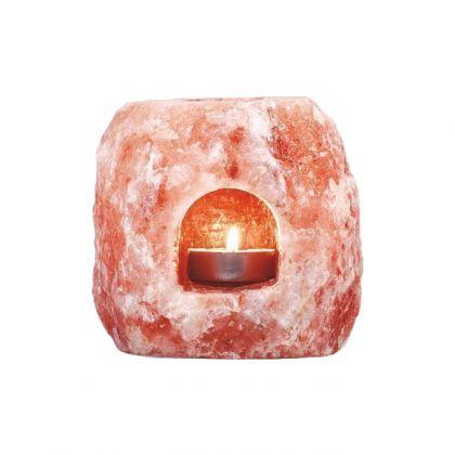 Portacandele in puro sale himalayano per aromaterapia