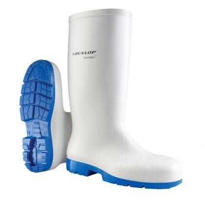 Stivali Dunlop Acifort Classici Bianco / Blu, Senza Puntale In Acciaio - B680331