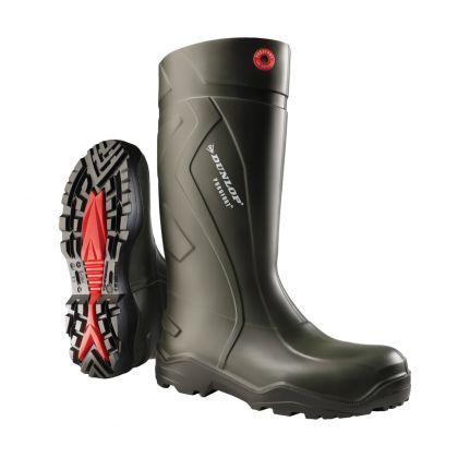 Stivali professionali Dunlop Purofort + verde Scuro/Nero, Senza Puntale in Acciaio - D760933