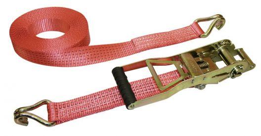 Cinghia di ancoraggio lungo cricchetto leva 2 pezzi con gancio