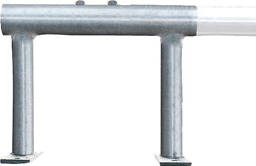 Piano staffa di montaggio per alta letto cubicle400x320 mm, con 2 viti di fissaggio - 334650