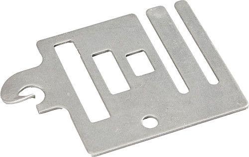 Piastra di connessione con maniglia per cancello fino a 20 mm