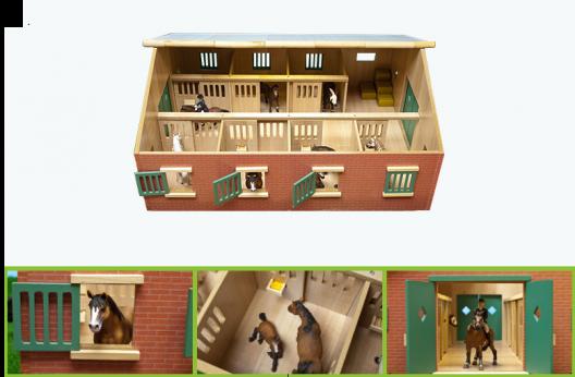 Pferden-stall mit 7 Boxen fur Pferden 11- 13H