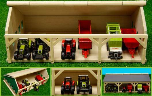 Tettoia per trattori in scala 1:87