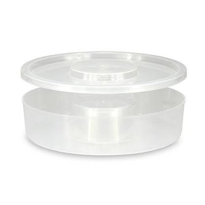 Mangiatoia in plastica da 1,5 litri rotonda